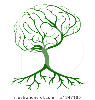 Brain Tree Clipart #1347165 by AtStockIllustration
