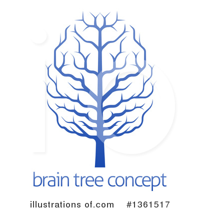 Brain Tree Clipart #1361517 by AtStockIllustration