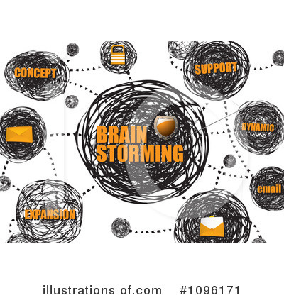 Royalty-Free (RF) Brainstorming Clipart Illustration by michaeltravers - Stock Sample #1096171