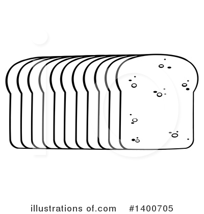 Royalty-Free (RF) Bread Clipart Illustration by Hit Toon - Stock Sample #1400705