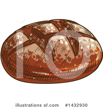Bread Clipart #1432930 by Vector Tradition SM