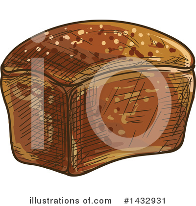 Bread Clipart #1432931 by Vector Tradition SM