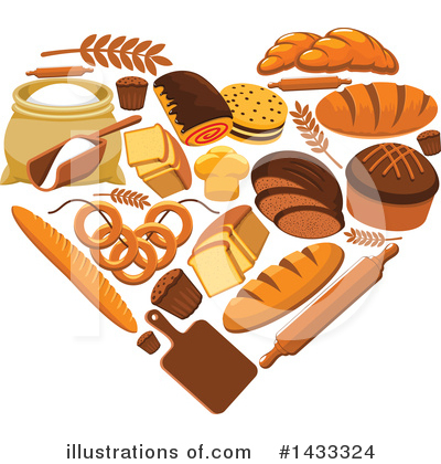 Bread Clipart #1433324 by Vector Tradition SM