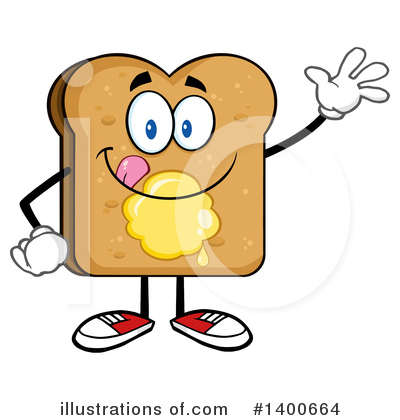 Bread Mascot Clipart #1400664 by Hit Toon