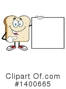 Bread Mascot Clipart #1400665 by Hit Toon