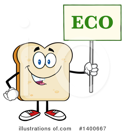 Bread Mascot Clipart #1400667 by Hit Toon