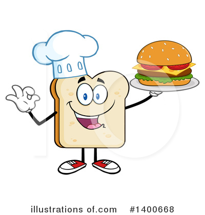 Bread Mascot Clipart #1400668 by Hit Toon