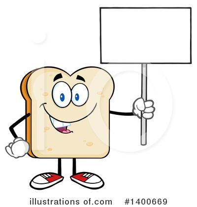 Bread Mascot Clipart #1400669 by Hit Toon