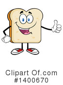 Bread Mascot Clipart #1400670 by Hit Toon