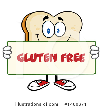 Royalty-Free (RF) Bread Mascot Clipart Illustration by Hit Toon - Stock Sample #1400671