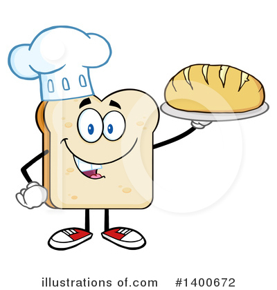 Bread Mascot Clipart #1400672 by Hit Toon