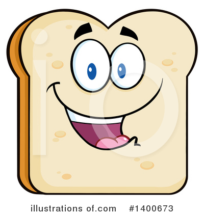 Bread Mascot Clipart #1400673 by Hit Toon