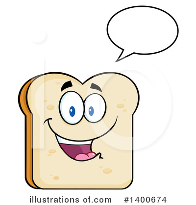 Bread Mascot Clipart #1400674 by Hit Toon