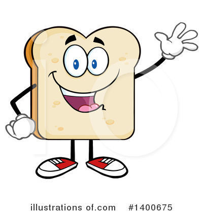 Bread Mascot Clipart #1400675 by Hit Toon