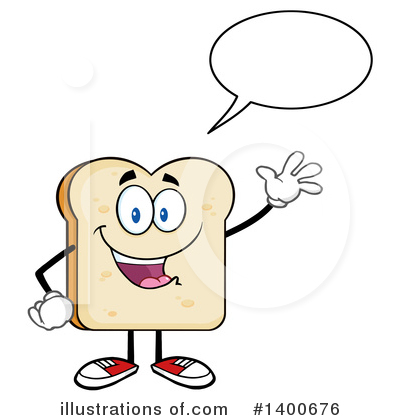 Bread Mascot Clipart #1400676 by Hit Toon