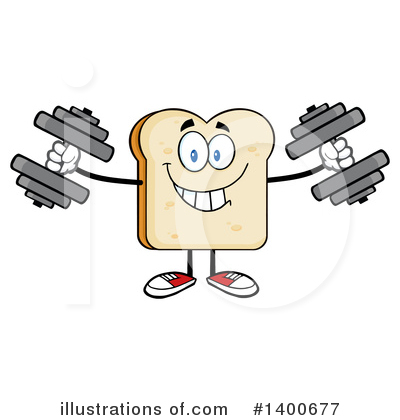 Bread Mascot Clipart #1400677 by Hit Toon