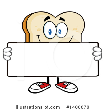 Bread Mascot Clipart #1400678 by Hit Toon