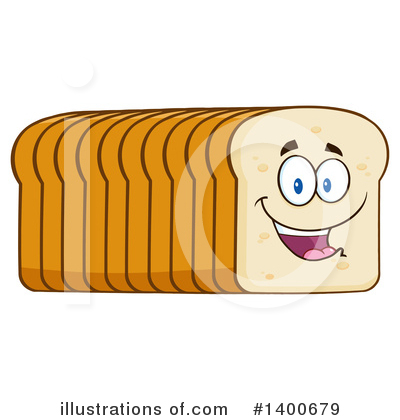 Bread Mascot Clipart #1400679 by Hit Toon