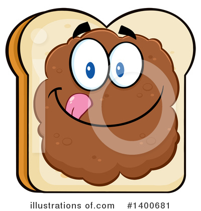 Bread Mascot Clipart #1400681 by Hit Toon