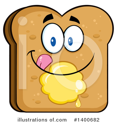 Bread Mascot Clipart #1400682 by Hit Toon