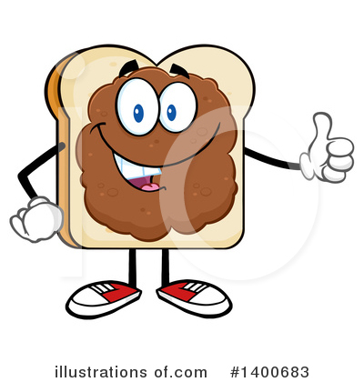 Bread Mascot Clipart #1400683 by Hit Toon