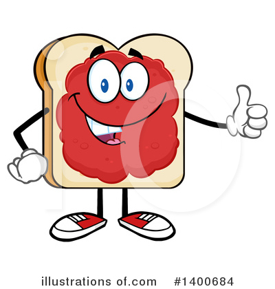 Royalty-Free (RF) Bread Mascot Clipart Illustration by Hit Toon - Stock Sample #1400684