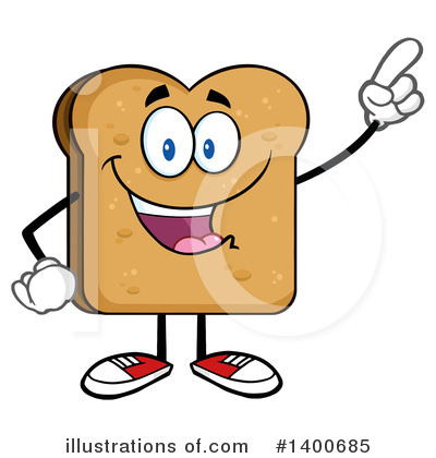 Bread Mascot Clipart #1400685 by Hit Toon