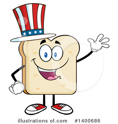 Royalty-Free (RF) Bread Mascot Clipart Illustration by Hit Toon - Stock Sample #1400686