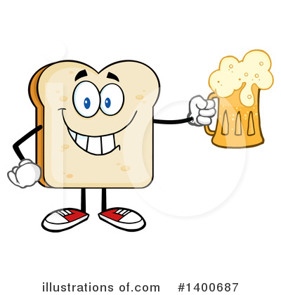 Bread Mascot Clipart #1400687 by Hit Toon
