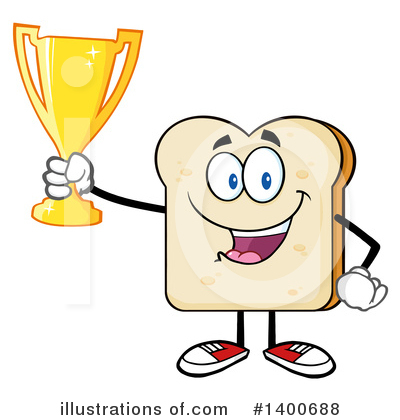 Bread Mascot Clipart #1400688 by Hit Toon