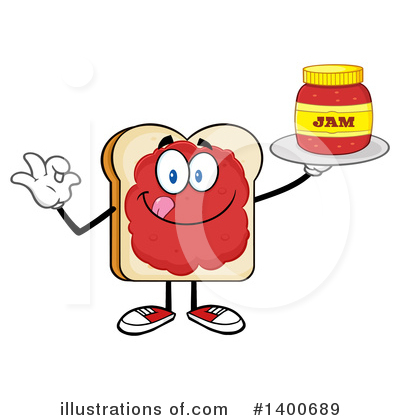 Bread Mascot Clipart #1400689 by Hit Toon