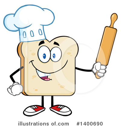 Bread Mascot Clipart #1400690 by Hit Toon