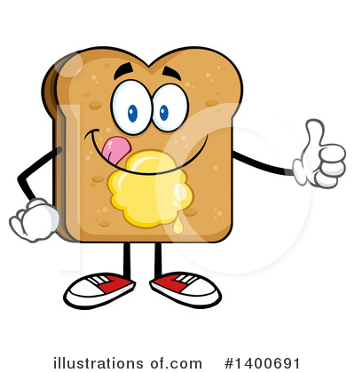 Bread Mascot Clipart #1400691 by Hit Toon