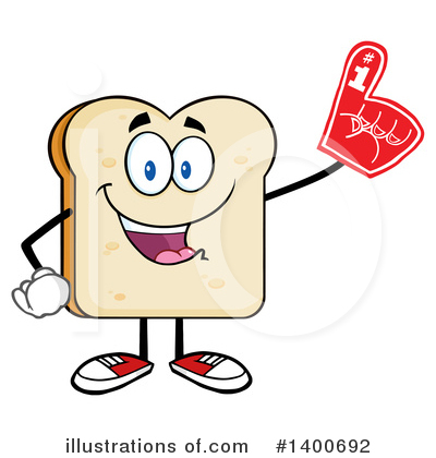 Bread Mascot Clipart #1400692 by Hit Toon