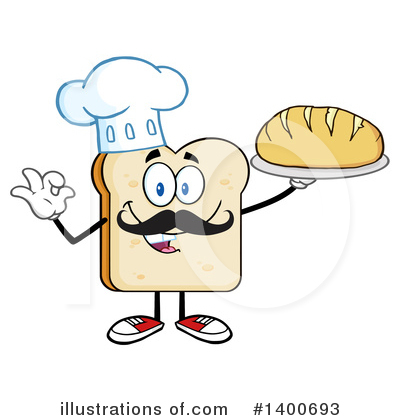 Bread Mascot Clipart #1400693 by Hit Toon