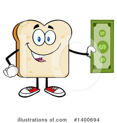 Bread Mascot Clipart #1400694 by Hit Toon