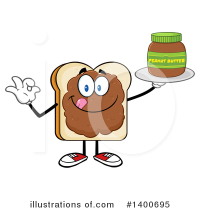 Bread Mascot Clipart #1400695 by Hit Toon