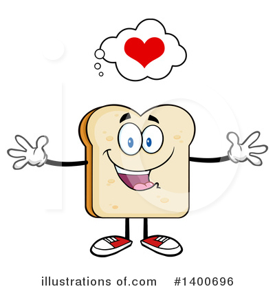 Bread Mascot Clipart #1400696 by Hit Toon