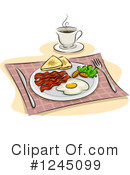 Royalty-Free (RF) Breakfast Clipart Illustration #1245099