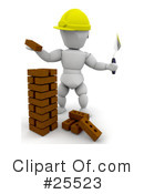 Bricklaying Clipart #25523 by KJ Pargeter