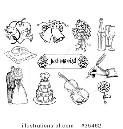 Royalty-Free (RF) Bridal Clipart Illustration by C Charley-Franzwa - Stock Sample #35462