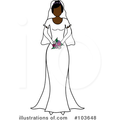 Wedding Dress Clipart #103648 by Pams Clipart