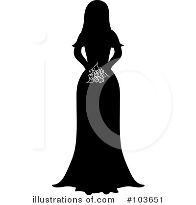 Wedding Dress Clipart #103651 by Pams Clipart