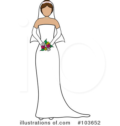 Wedding Dress Clipart #103652 by Pams Clipart