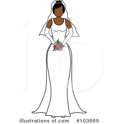 Wedding Dress Clipart #103669 by Pams Clipart