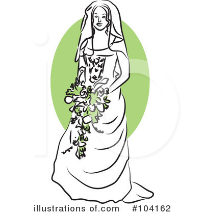 Royalty-Free (RF) Bride Clipart Illustration by Prawny - Stock Sample #104162