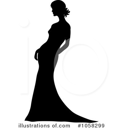Wedding Dress Clipart #1058299 by Pams Clipart