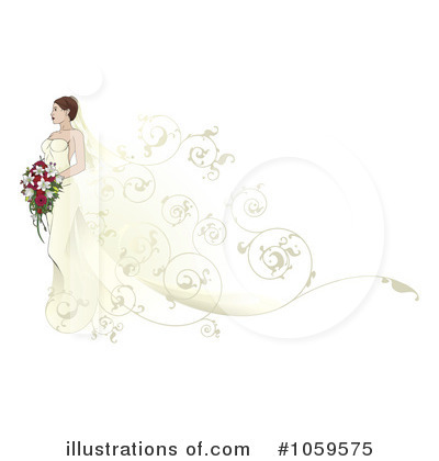 Royalty-Free (RF) Bride Clipart Illustration by AtStockIllustration - Stock Sample #1059575