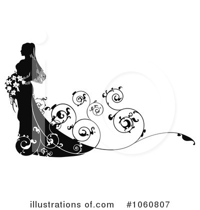 Bride Clipart #1060807 by AtStockIllustration