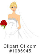 Royalty-Free (RF) bride Clipart Illustration #1086945